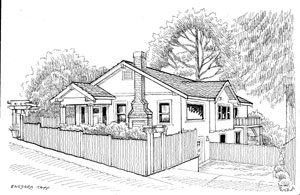 Barbara Tapp Illustrations Real Estate Drawings House