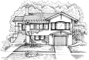 House Sketches barbara tapp illustrations - real estate drawings, house sketches